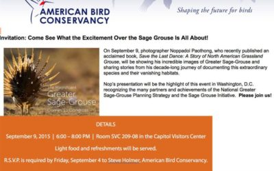 Program at the Capitol to raise awareness on sage-grouse